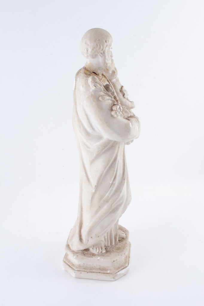 1930s French Plaster Saint Anthony Statue