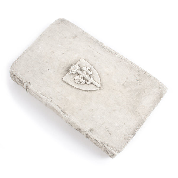 Cast Stone Book - Small Shield Book