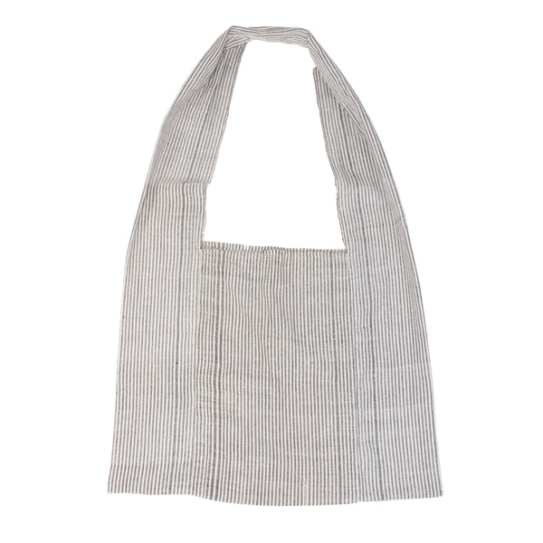 Seersucker Stripe Woven Shopper from Laos