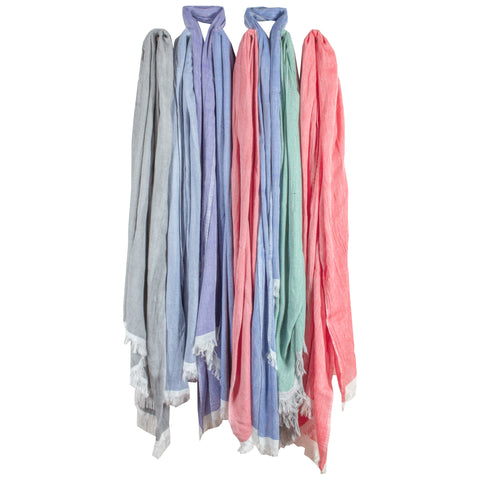 Handwoven Cotton & Linen Scarves from Marrakech