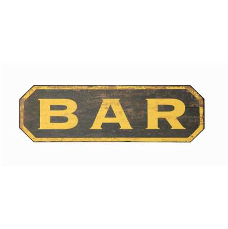 Wooden Antiqued Bistro Bar Sign