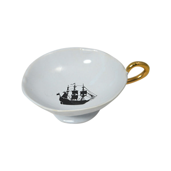 Kuhn Keramik Great Ship Gold-Handled Dish