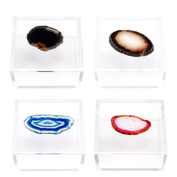 Acrylic Box with Agate Slice - Small