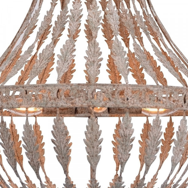 Rustic Empire Metal Chandelier - Two Sizes Available