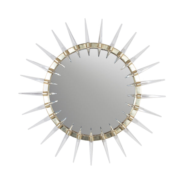 Solis Brass and Acrylic Round Modern Mirror