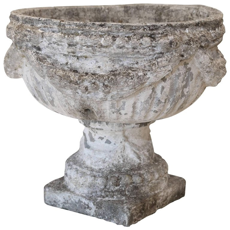 Oversized French Stone Garden Urn