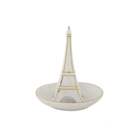 Stoneware Eiffel Tower Ring Dish