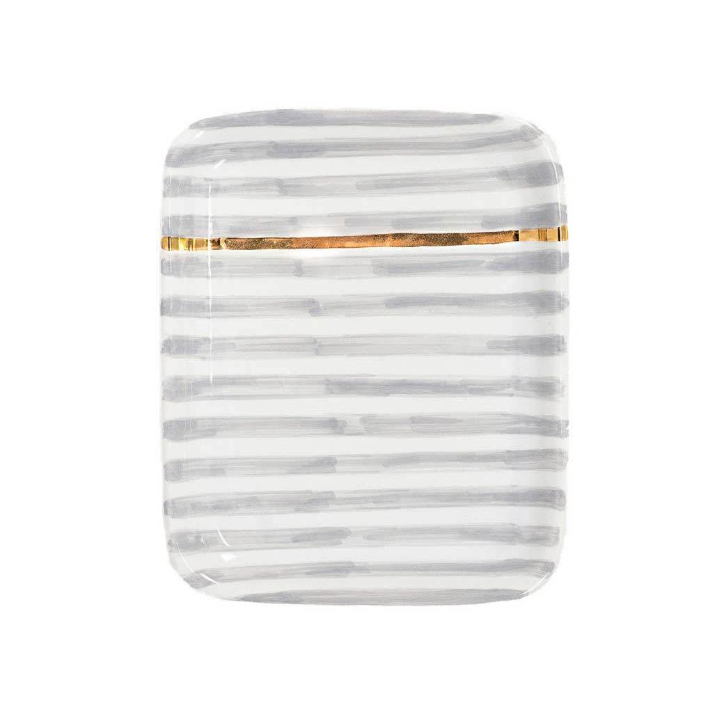 Handmade Moroccan Ceramic Tray in Stripe (More Colors Available)