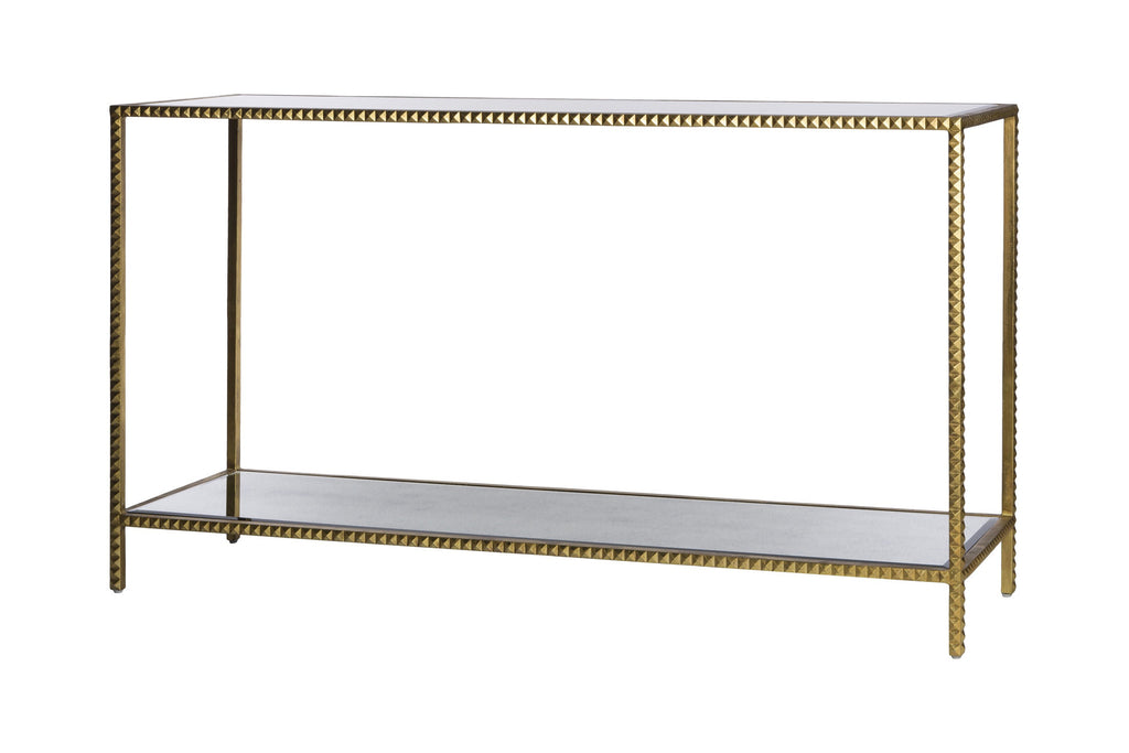Gold Stud Console Table