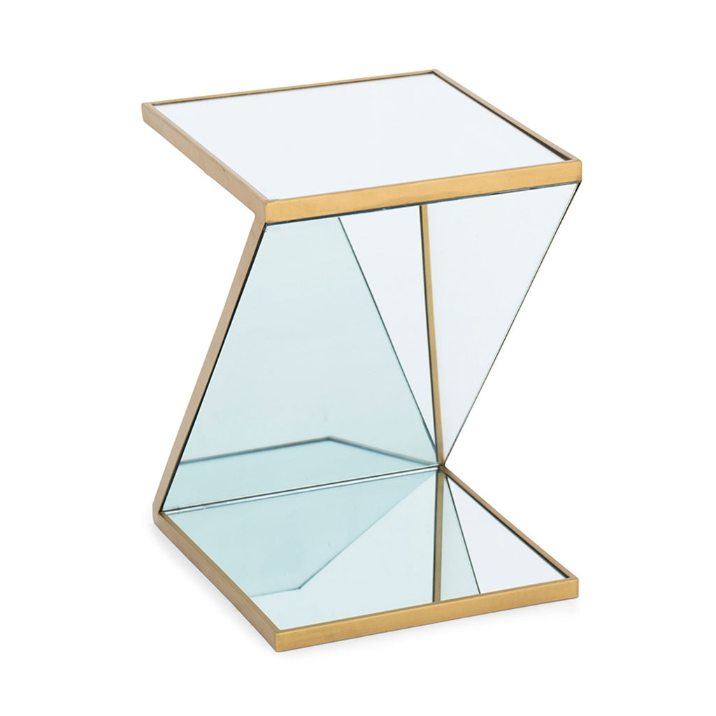 "Belgian ""Ennia"" Mirrored Side Table"