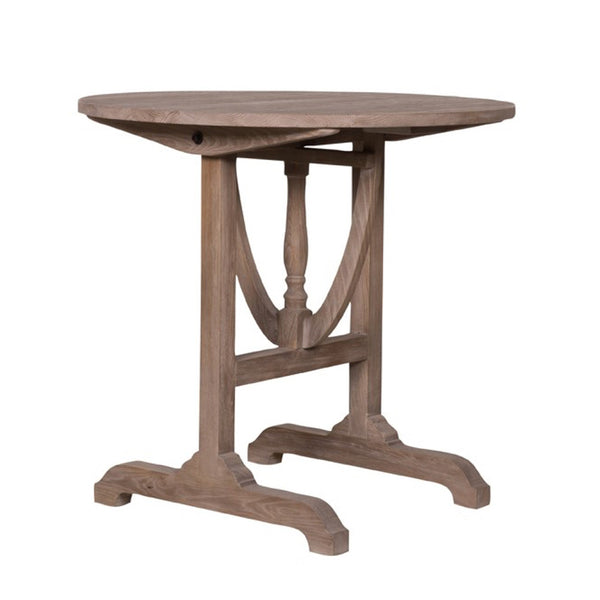 Belgian Round Vineyard Table with Folding Top
