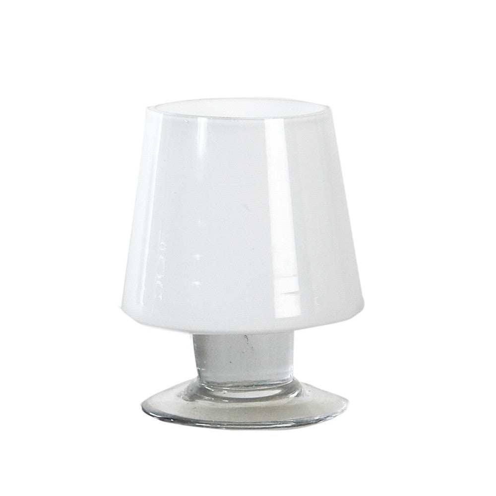 Belgian White Glass Oilly Tealight Holders