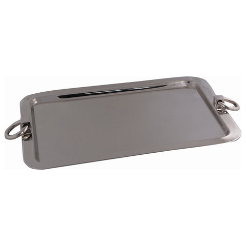 Belgian Nickel-Plated Thain Tray with Ring Handles