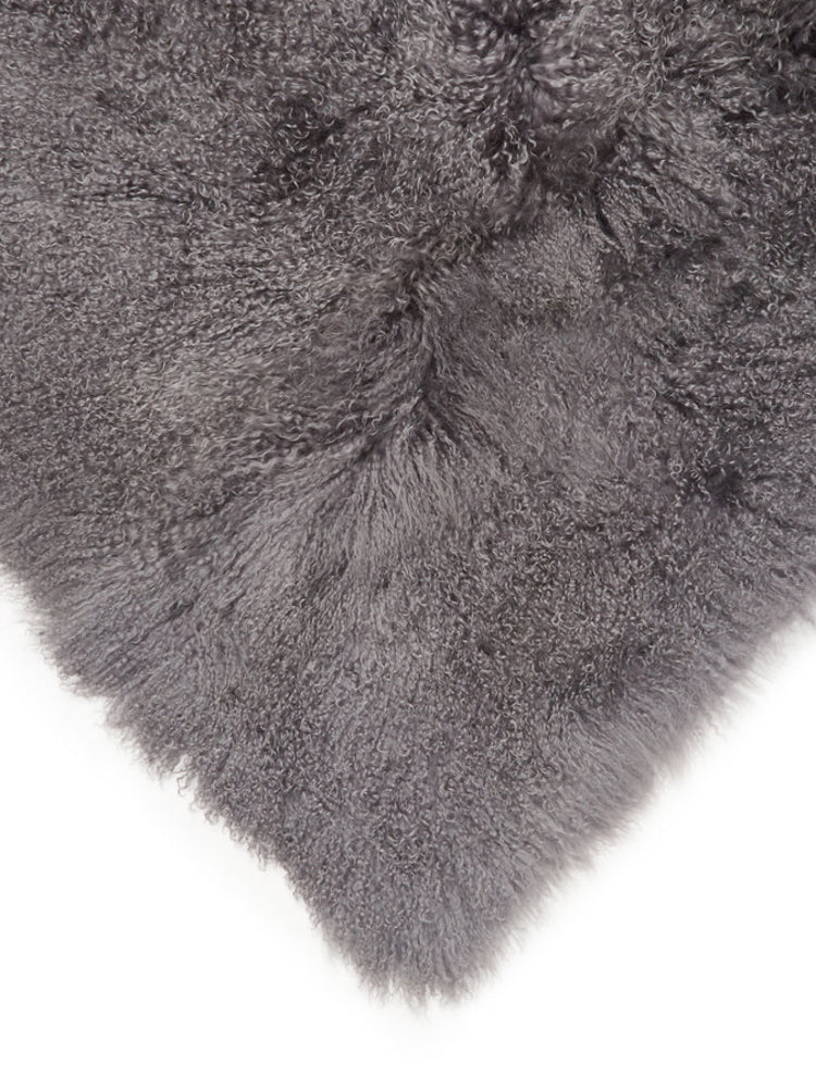 Tibetan Lamb Rug & Throw 5' x 8' in Charcoal