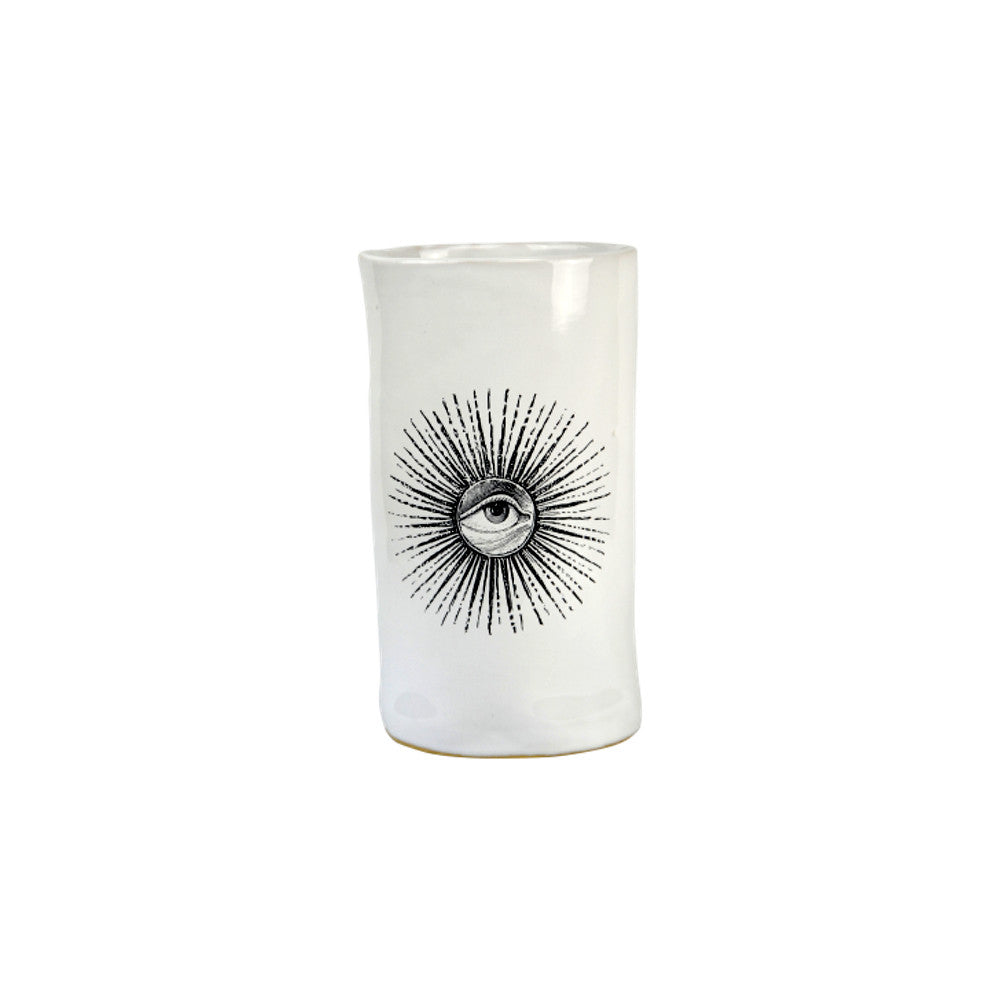 "Kuhn Keramik ""All Seeing Eye"" Cylinder Vessel"