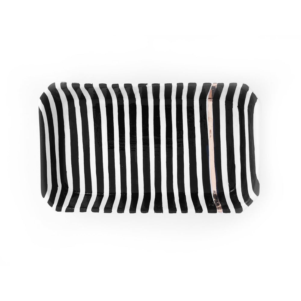 Handmade Moroccan Ceramic Tray in Stripe & Zwak (More Colors Available)