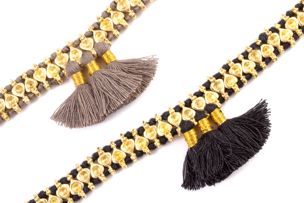 Trio Tassel Bracelet - Handmade in Egypt (Two Colors Available)