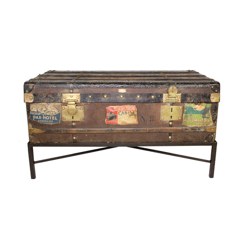 19th Century Au Dupart French Trunk Coffee Table