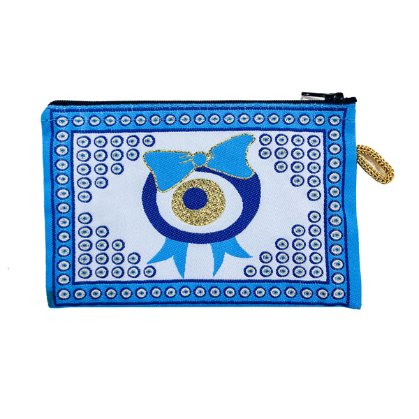 Small Currency Pouch - Evil Eye with Bow