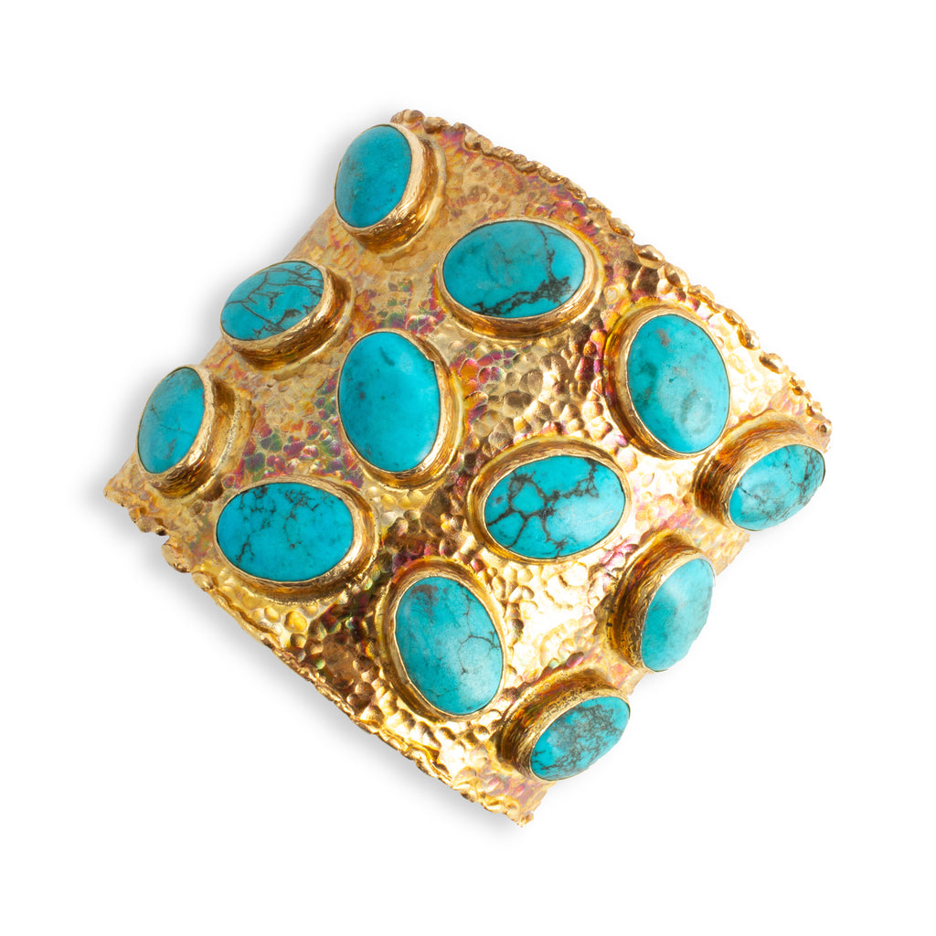 Turquoise & Brass Cuff from Istanbul