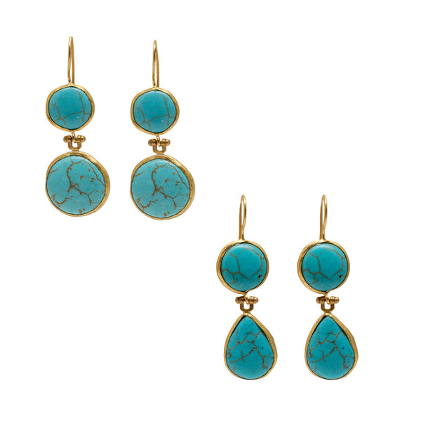 Turkish Delights Earrings: Turquoise Drop Earrings from Istanbul