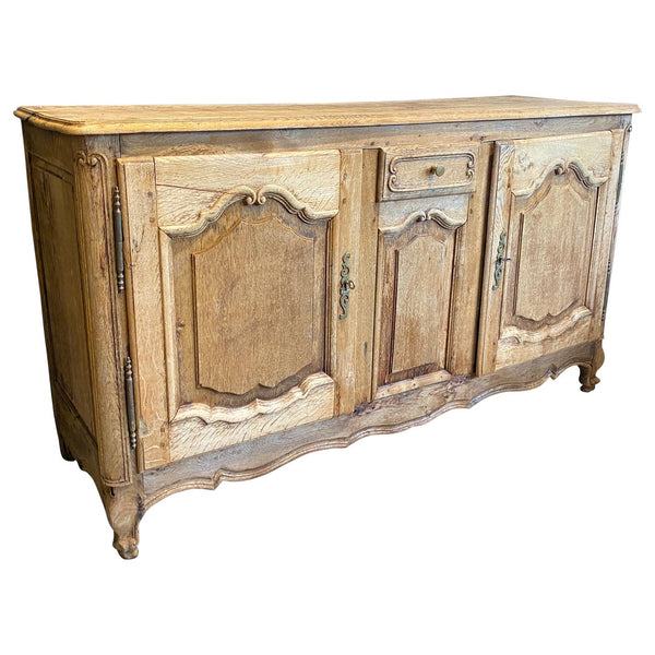 Antique French Louis XV Stripped Oak Buffet, circa 1830