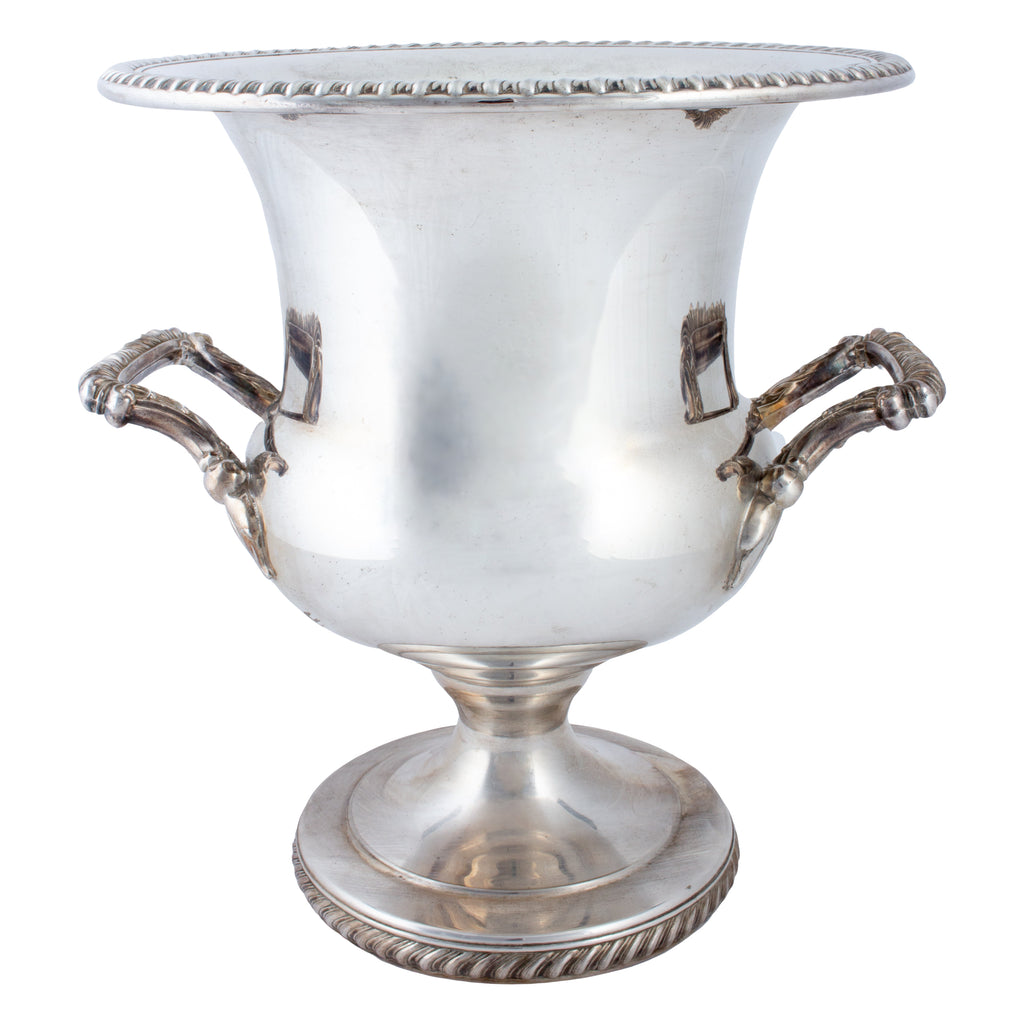 Vintage French Silver-plate Footed Champagne Bucket