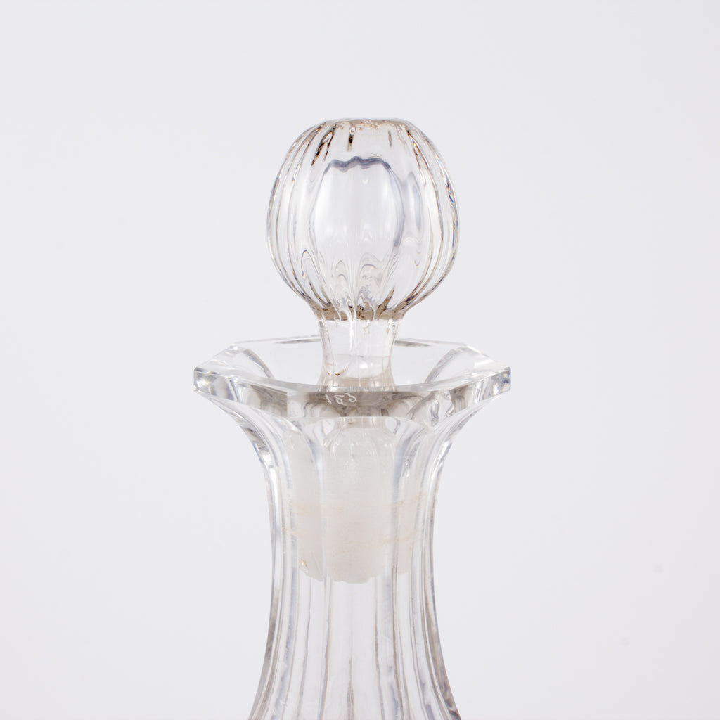 Vintage French Faceted Crystal Cruet Decanter