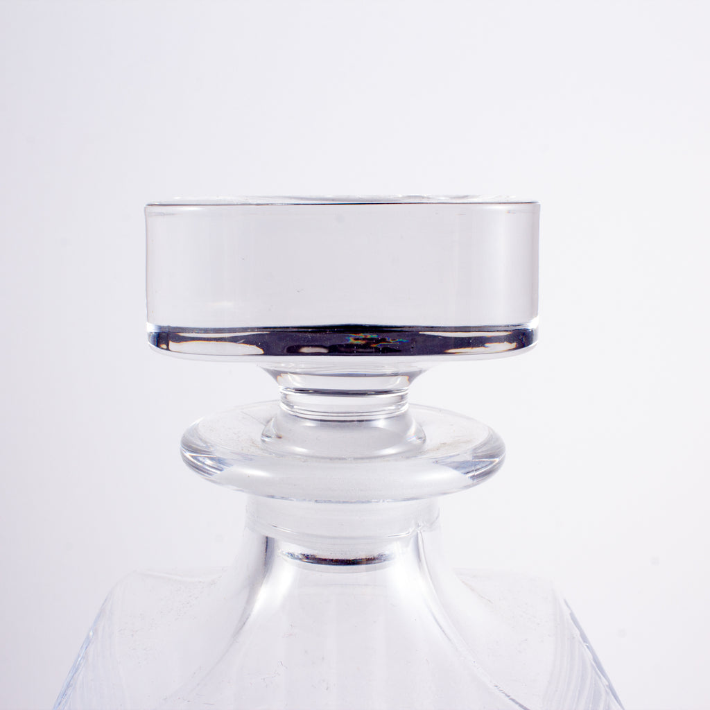 Vintage French Heavy Glass Decanter