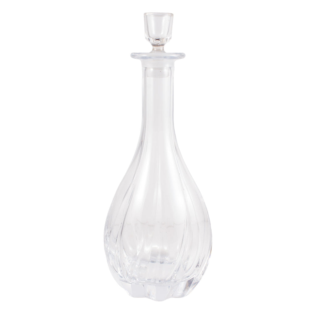 Vintage French Handblown Glass Decanter