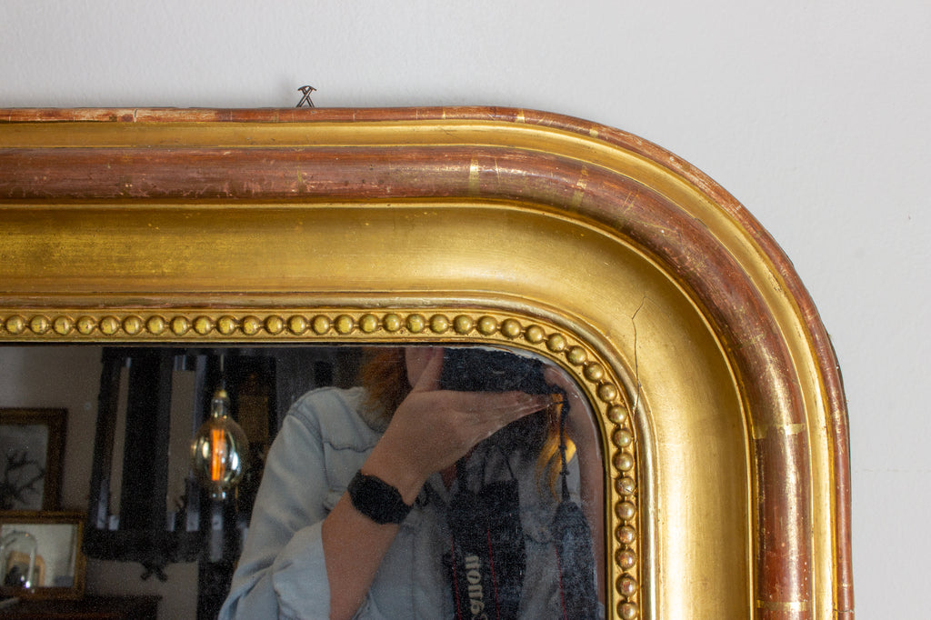 Large Antique French Gilt Louis Philippe Mirror, circa 1830