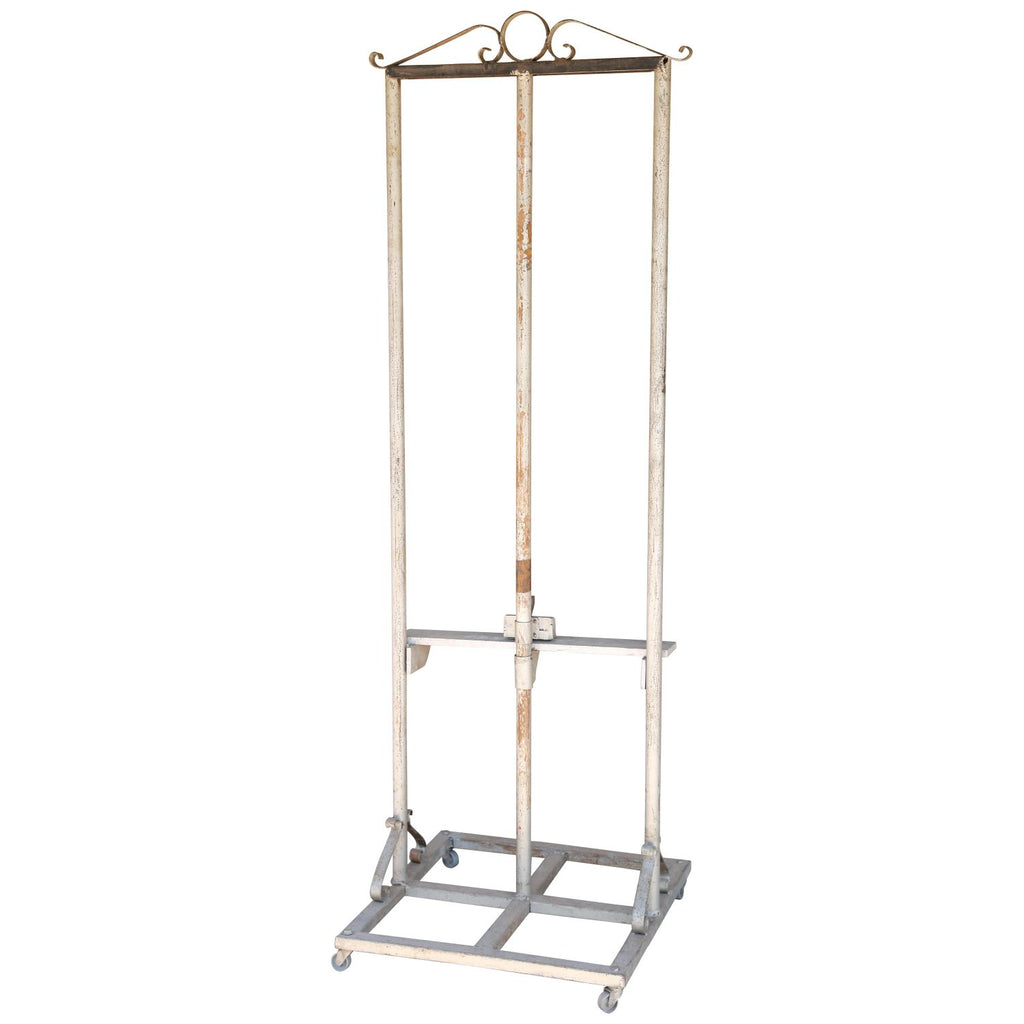 1920s Vintage French Metal Easel on Casters