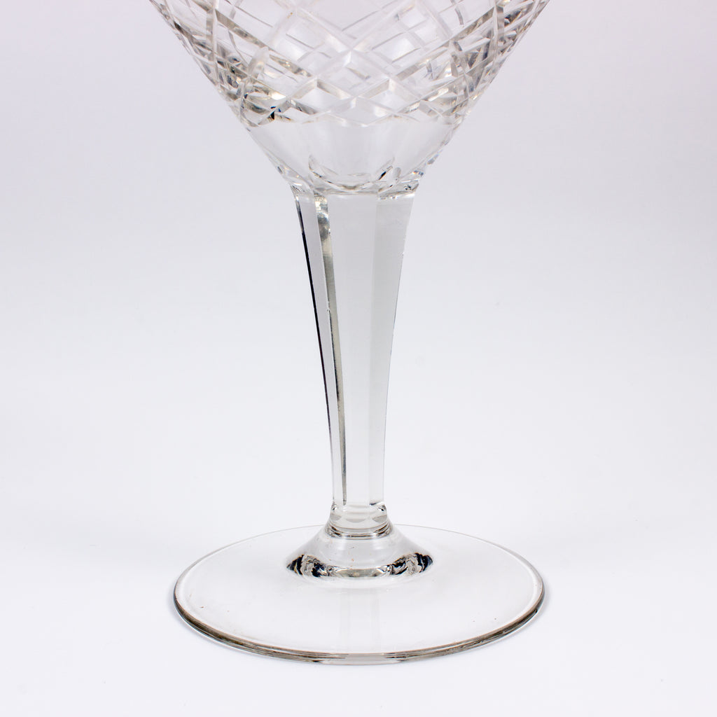 Vintage French Cut Crystal Martini Glasses