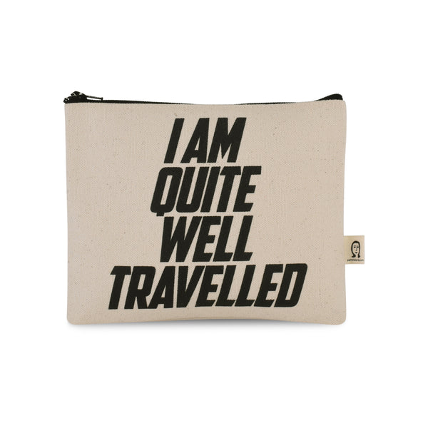 I am Quite Well Travelled Canvas Printed Pouch