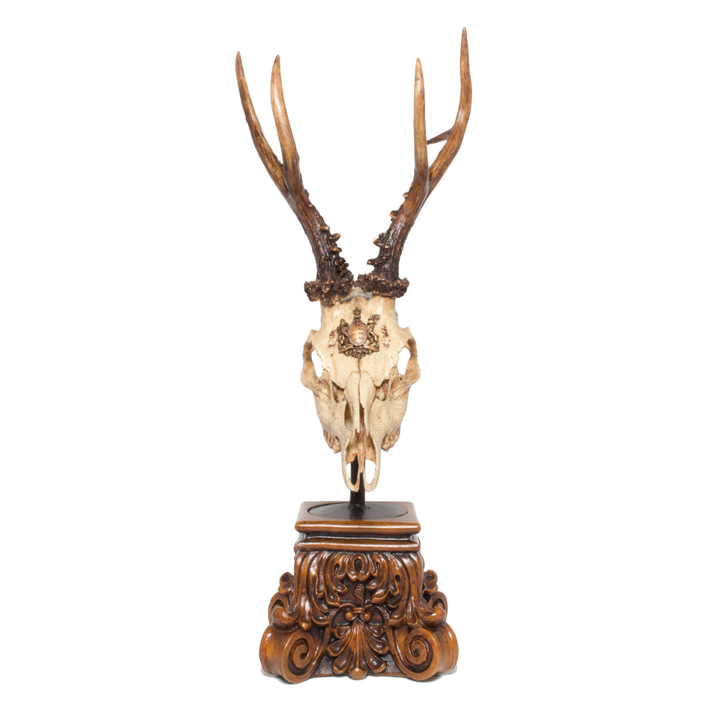 19th Century Würtemmburg Roe Trophy with Original Wappen