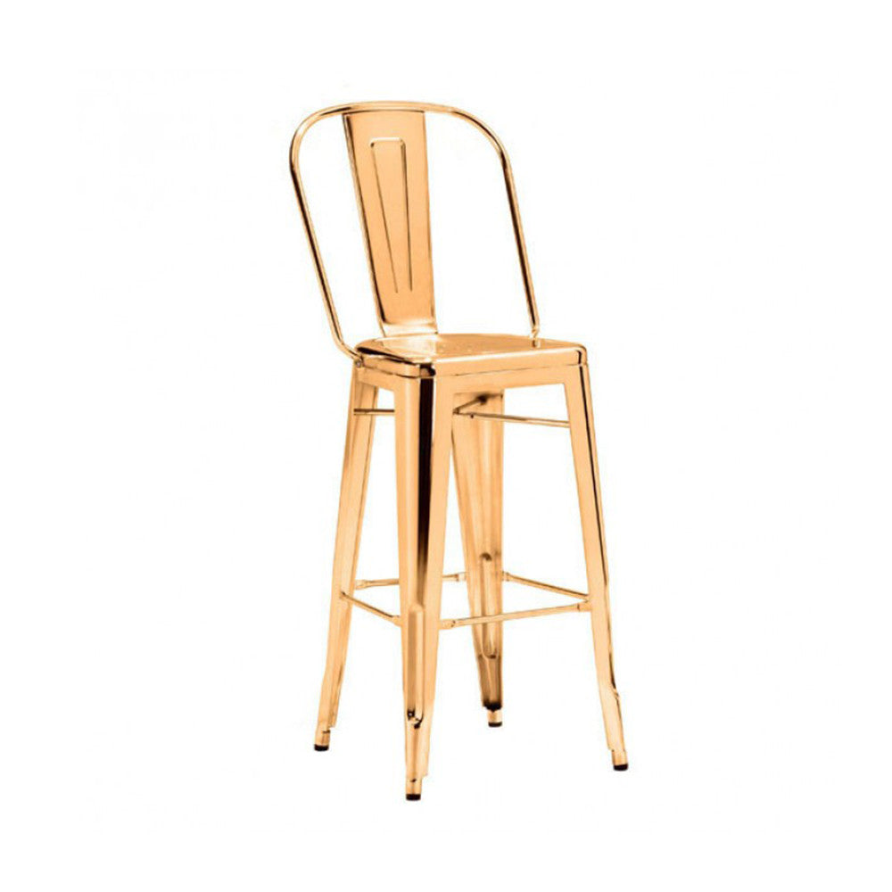 Elio Modern Gold Bar Stool Laurier Blanc Unique Home