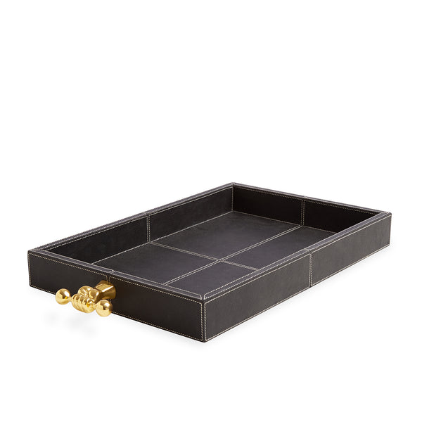 Jonathan Adler Barbell Leather Tray