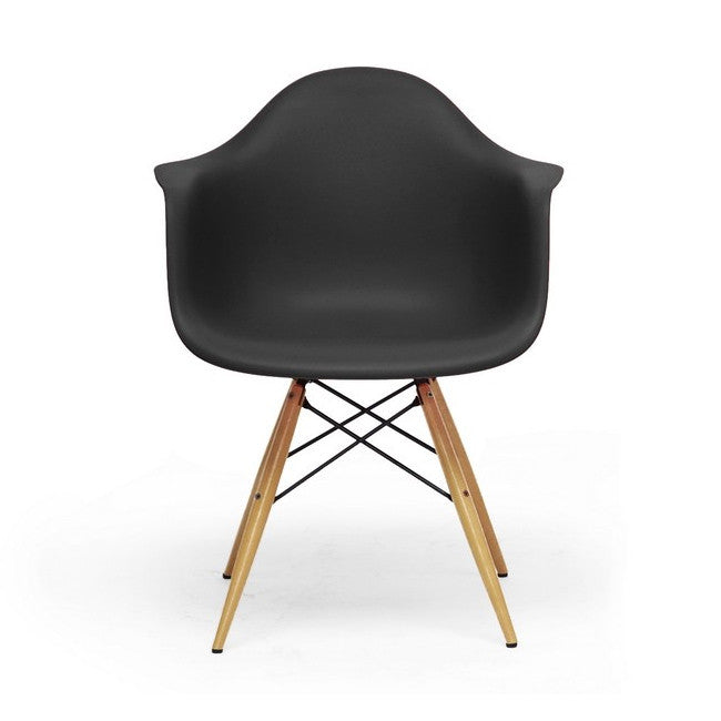 Black Pascal Shell Chairs Set/2