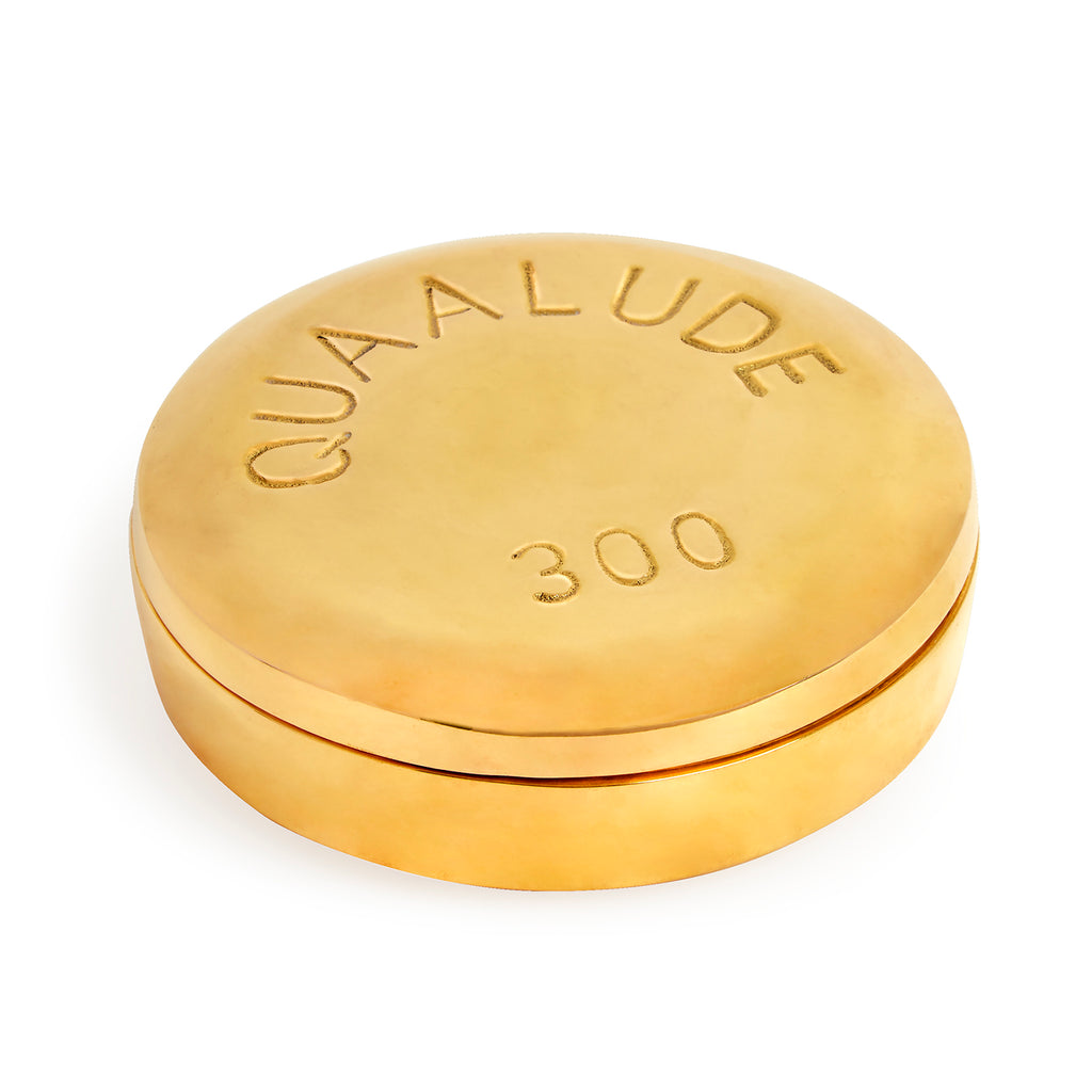 Quaalude Brass Pill Box from Jonathan Adler