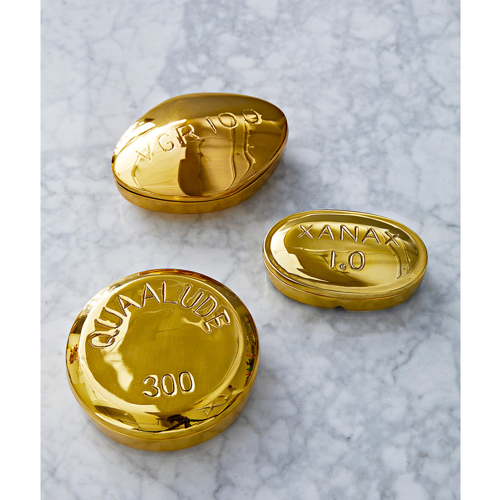 Viagra Brass Pill Box from Jonathan Adler