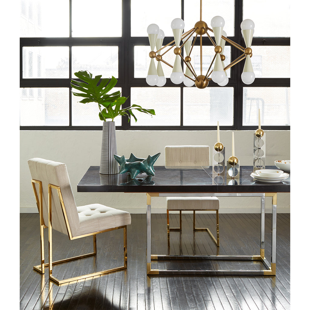 Caracas 16-Light Chandelier by Jonathan Adler, Black or Ivory