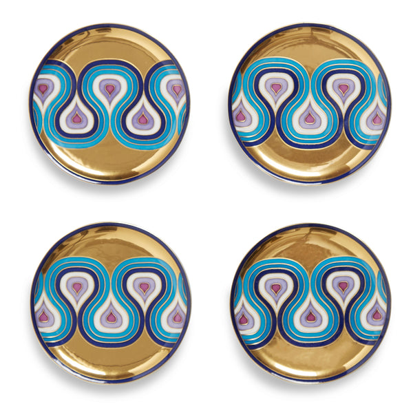 Milano Porcelain Coaster Set from Jonathan Adler