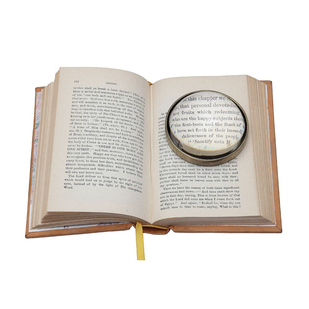Metal & Glass Magnifying Glass Paperweight