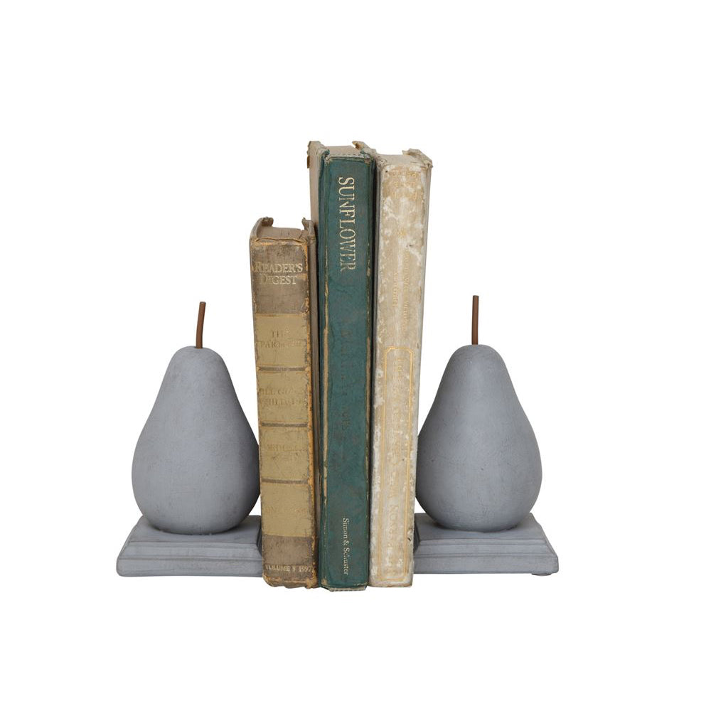 Cement Pear Bookends