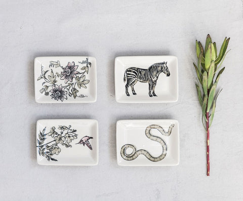 Illustrated Trinket Dishes | Four Styles