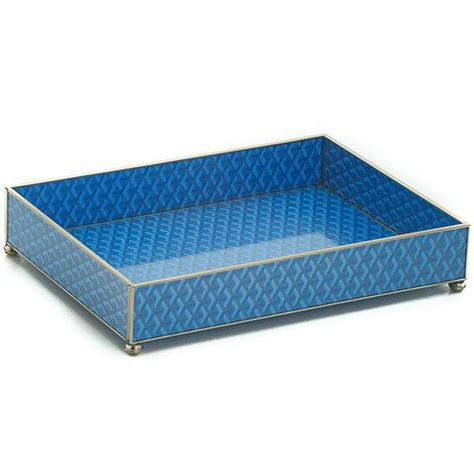 Goyard Inspired Glass Vanity Tray