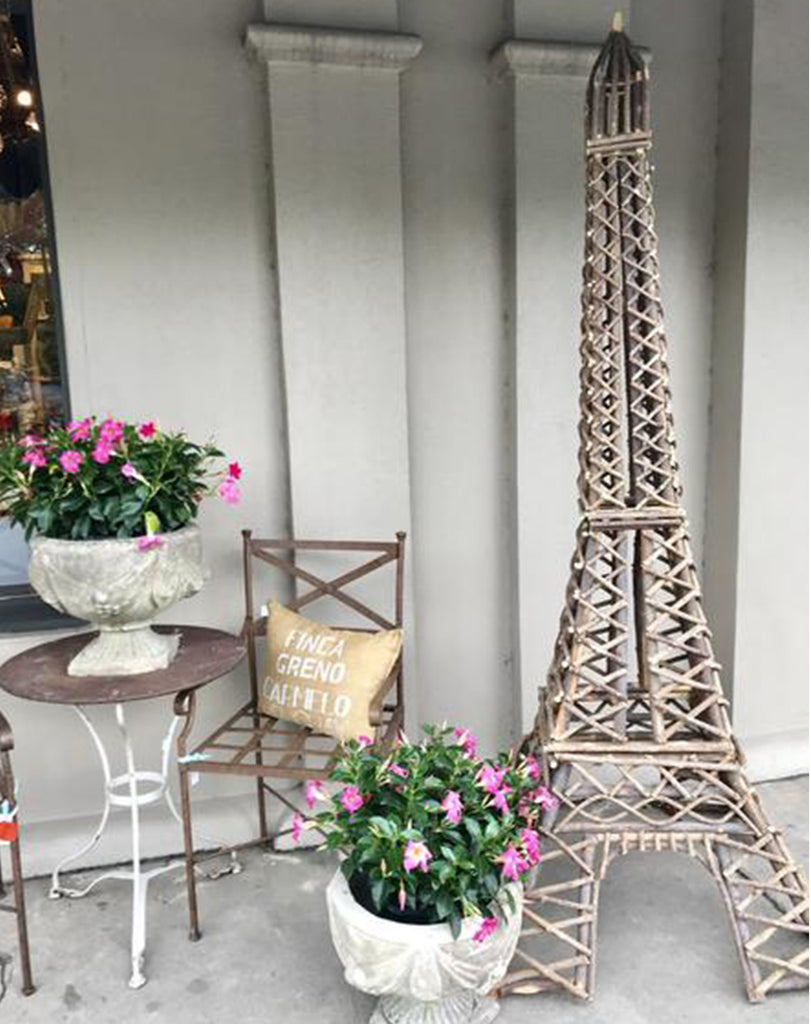 Large Handmade Eiffel Tower Willow Art Sculpture Indoor Outdoor
