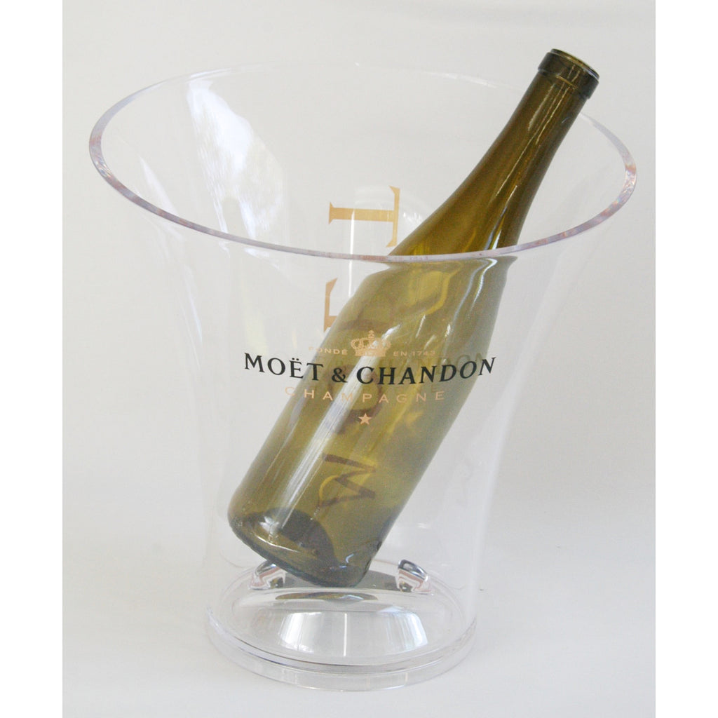 French Acrylic Moet & Chandon Bottle Chiller & Ice Bucket