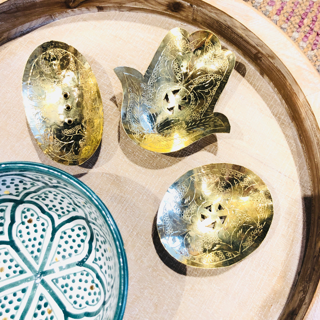 Handmade Brass Soap Dishes from Marrakech