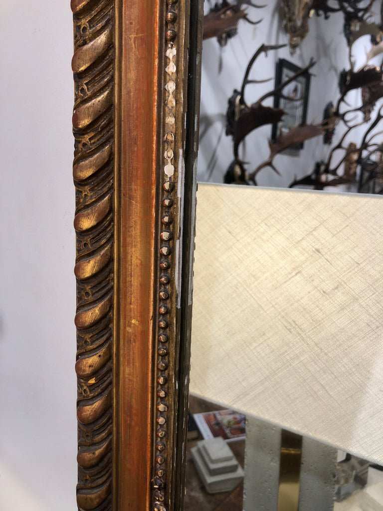 Antique French Gilt Mirror Dating to 19th Century
